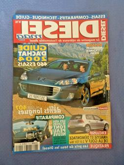 Diesel Mag Car Magazine French Auto Automobile 2004 Renault