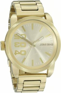 Diesel Men's DZ1466 Double Down Series Gold-Tone Stainless S