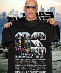 Fast And Furious 20 years T shirt Vin Diesel fan git