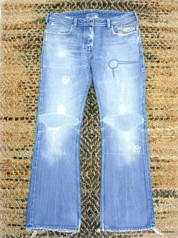 DIESEL JEANS ZATHAN SLIM BOOT ART 772 PATCH DISTRESSED 33/32
