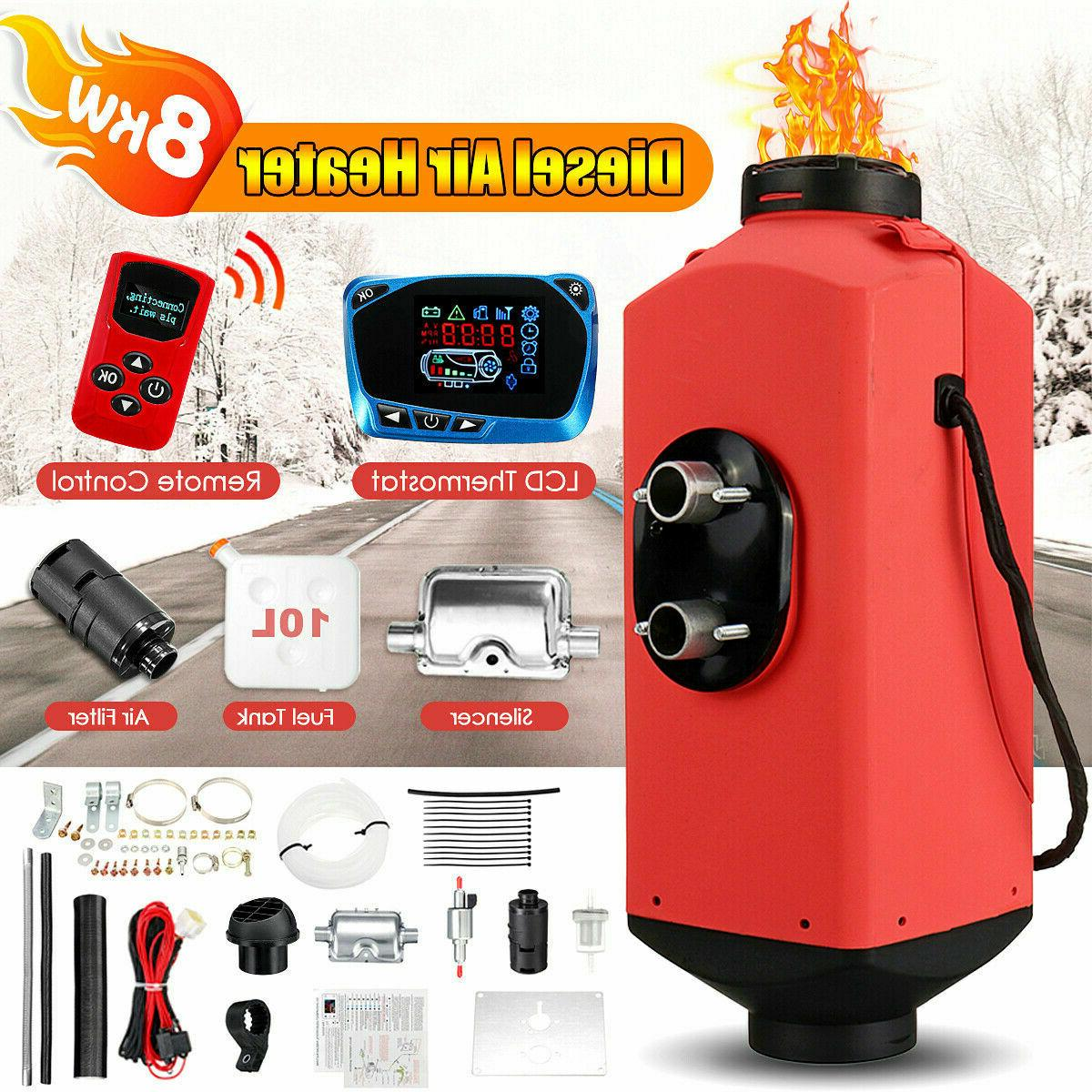8kw parking heater lcd high matching fuel