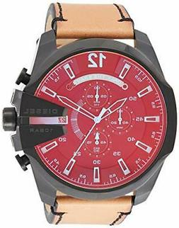 Diesel Men's DZ4476 Mega Chief Stainless steel and Leather C