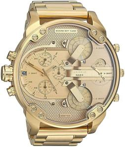 New Diesel Mr. Daddy 2.0 Gold Chronograph 4 Time Zone Men's