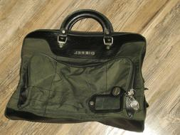 DIESEL TRAVEL BAG GREEN BLACK 16 INCHES WIDE 13 INCHES HIGH