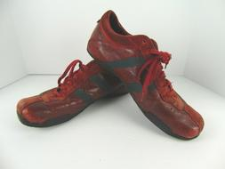 DIESEL Wish Men's Red Leather Suede Casual Athletic Shoes Sn